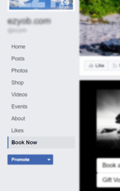 Online bookings on your Facebook page - EzyOB