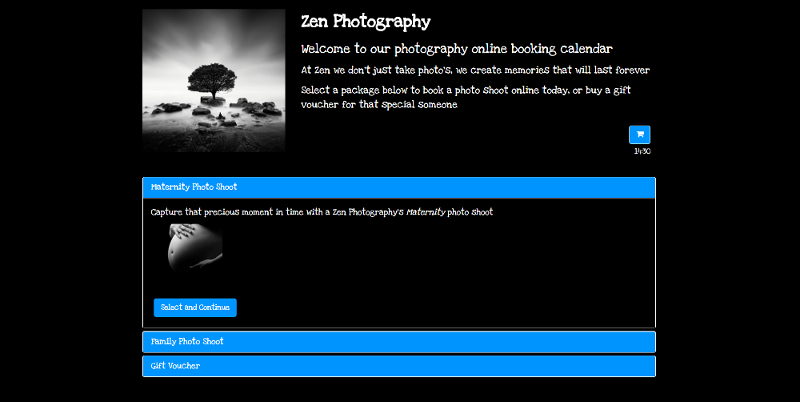 online booking system for photography business