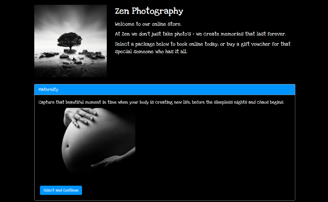 Photographer Online Booking System - EzyOB Booking Software